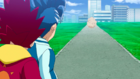 Burst Surge E9 - Hikaru and Hyuga After Being Passed by Dante Koryu