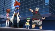 Gingka, Madoka, Kenta and Benkei