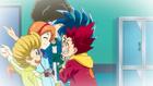 Burst Surge E4 - Reina. Guy, and Chuck Welcoming Hikaru and Hyuga to the Comets
