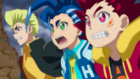 Burst Surge E8 - Hikaru, Hyuga, and Rantaro After Realizing That Lui is Trying to Burst Lucius