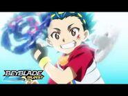 BEYBLADE BURST Episode 8 Valt vs Hoji at the District Tournament