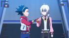 Shu and valt sharing a bro fist bump on camera ep 34
