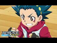 BEYBLADE BURST Episode 1 Valt vs Rantaro at Beigoma Academy