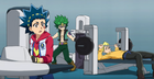 Valt, Rantaro, and Silas working out