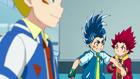 Burst Surge E9 - Hikaru and Hyuga Arguing Over Who Gets to Battle Dante First