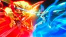 Beyblade Burst Storm Spriggan Knuckle Unite vs Victory Valkyrie Boost Variable