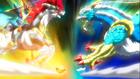 Beyblade Burst Gachi Slash Valkyrie Blitz Power Retsu vs Ace Dragon Sting Charge Zan