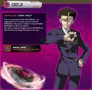 Doji as he appears in beyblade.com
