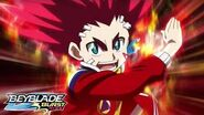 BEYBLADE BURST RISE Episode 14 Part 2 Turbo Battle! Aiger vs Delta!