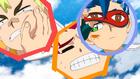 Burst Surge E4 - Hyuga Waking Up Hikaru and Rantaro
