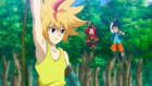 Burst Surge E5 - Hikaru and Hyuga Catching Up to Free