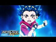 BEYBLADE BURST Episode 1 Valt vs Rantaro at the District Tournament
