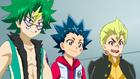 Burst Surge E4 - Valt, Rantaro, and Silas Impressed by Hikaru and Hyuga's Bonds