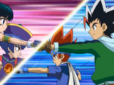 Gingka Hagane & Masamune Kadoya vs. Chi-yun Li & Mei-Mei