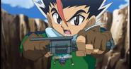 Masamune kämpft gegen Gingka