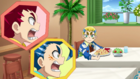 Burst Surge E10 - Hikaru and Hyuga Finding Dante at Their Family's Restaurant