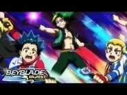 BEYBLADE BURST SURGE Episode 12- Hyuga and Lain vs Hikaru and Aiger!