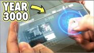 Time Traveler From 3000 Reveals Folding Phone From The Future, See Through Phone