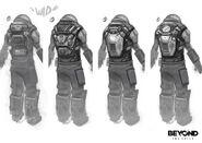 Beyondtwosouls equipment hazmat suits 01 by florent auguy additions 01