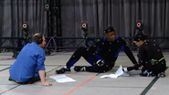 Kadeem Hardison, David Cage, and Ellen Page