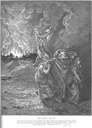 Gen19 Lot Flees as Sodom and Gomorrah Burn