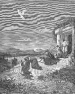 Dore 71 Tobit12 The Angel Raphael and the Family of Tobit