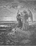 Dore 01 Gen32 Jacob Wrestles with the Angel
