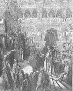 Dore 14 2Chron09 Solomon Receives the Queen of Sheba