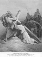 Mark15b Jesus Falls with the Cross