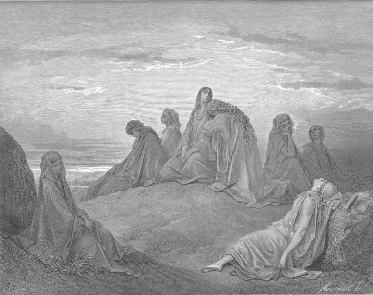 Dore 07 Judg11 Women Mourn with Jephthah's Daughter.jpg