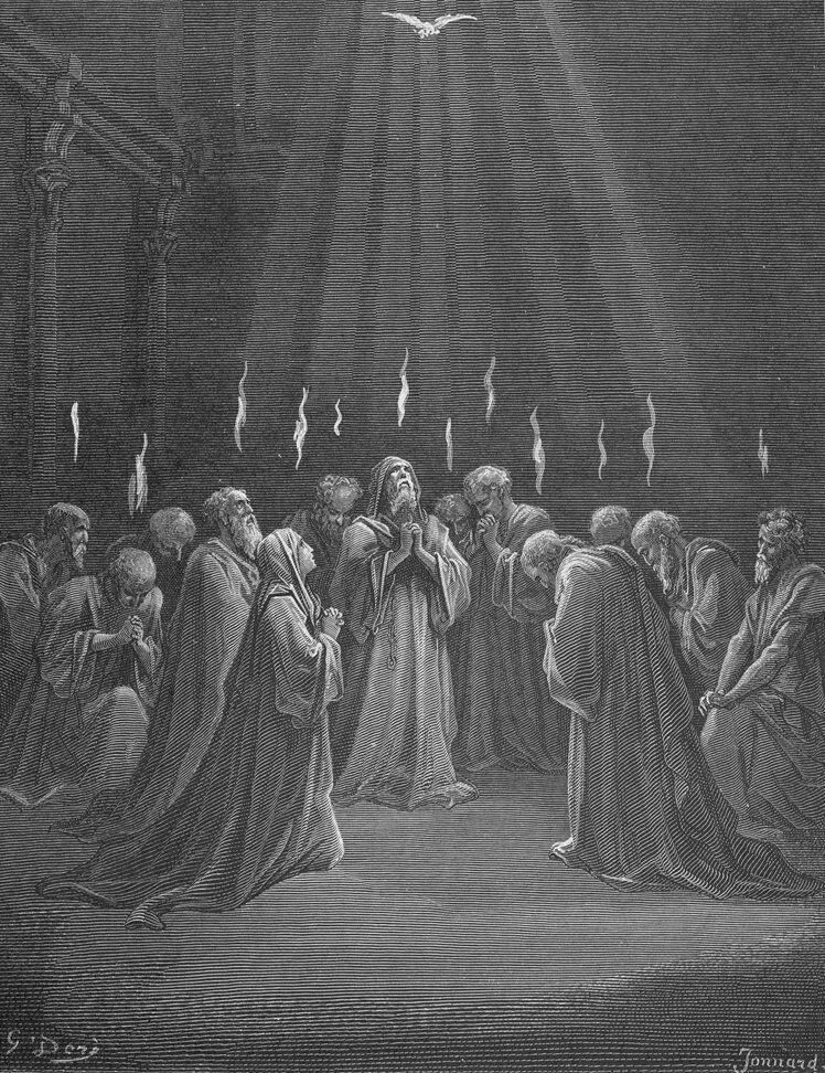 Dore 44 Acts02 Descent of the Holy Spirit.jpg