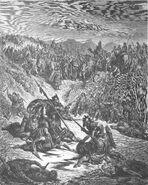 Dore 10 2Sam02 Combat Soldiers of Ish-bosheth and David