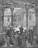 Dore 72 Bel01 Daniel Confounds the Priests of Bel