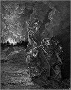 Dore 01 Gen19 Lot Flees as Sodom and Gomorrah Burn