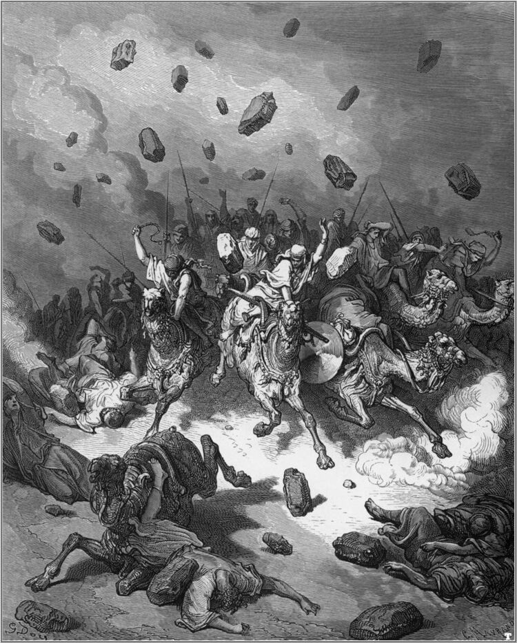 Dore 06 Josh10 The Army of the Amorites Is Destroyed .jpg