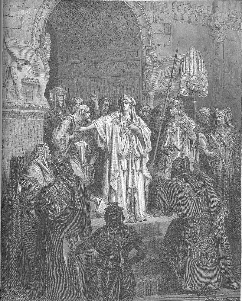 Dore 17 Esther01 Vashti Refuses to Obey Ahasuerus' Command.jpg