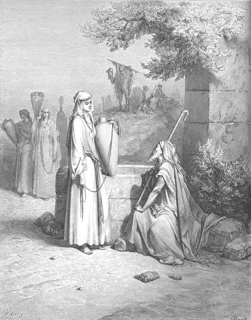 Gen24 Eliezer and Rebekah at the Well.jpg