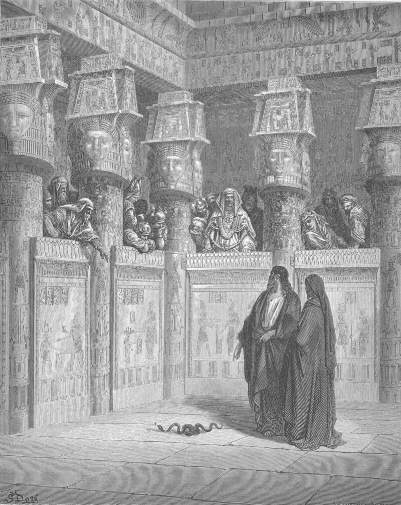 Dore 02 Exod07 Moses and Aaron Appear before Pharaoh.jpg