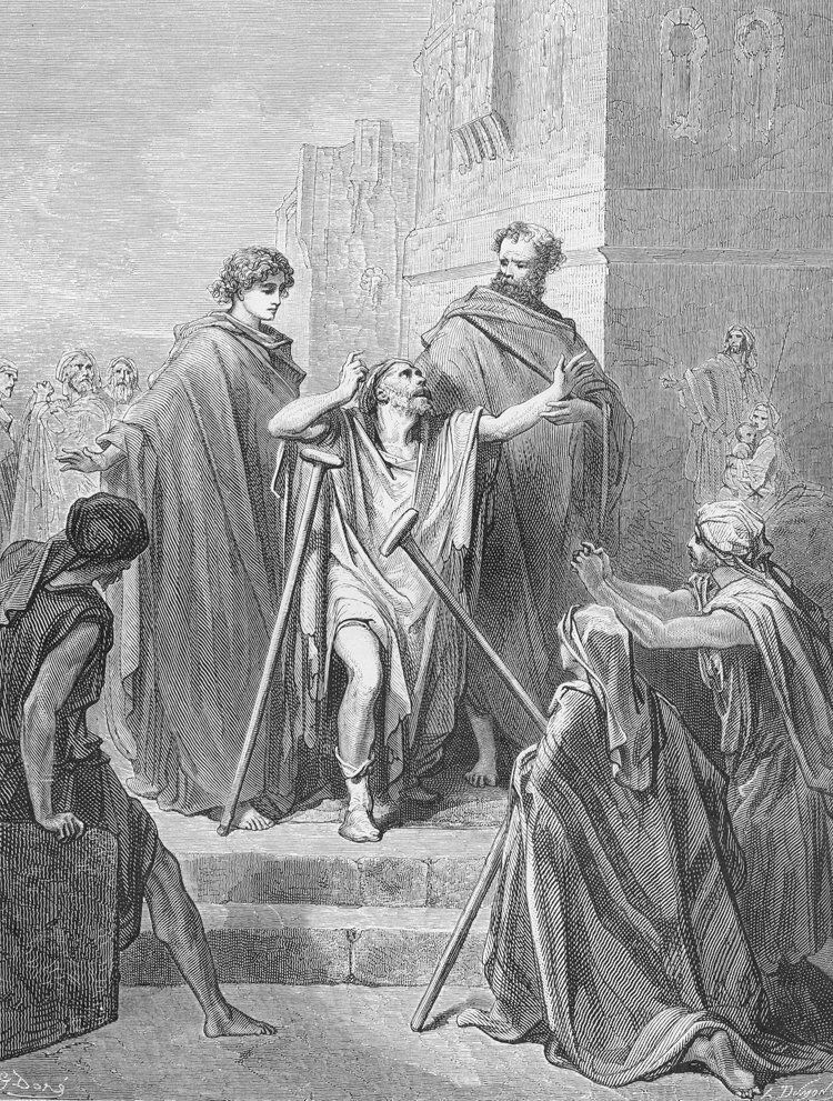 Dore 44 Acts03 Peter and John Cure a Lame Man.jpg