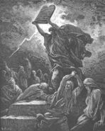 Dore 02 Exod32 Moses Breaks the Tables of the Law