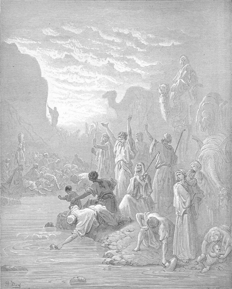 Dore 02 Exod17 Moses Strikes the Rock at Horeb.jpg