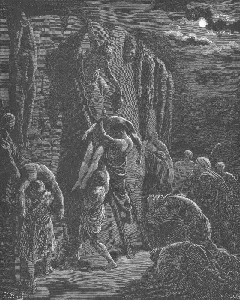 Dore 13 1Chron10 Recovery the Bodies of Saul and His Sons.jpg