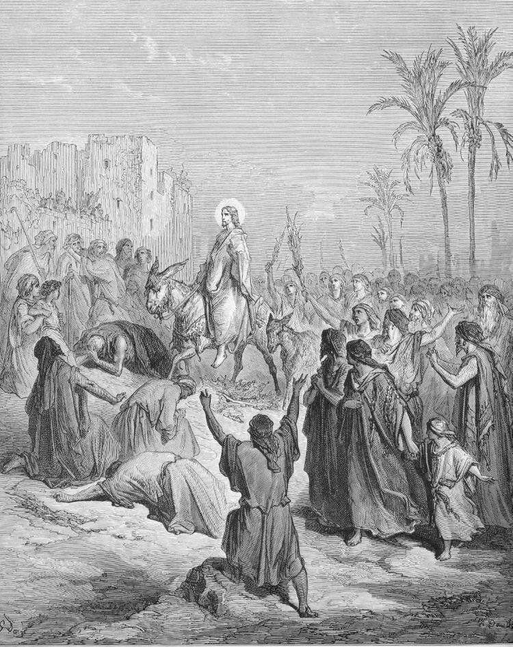 Dore 40 Matt21 Jesus Enters into Jerusalem.jpg