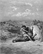Dore 07 Judg14 Samson Slays a Lion