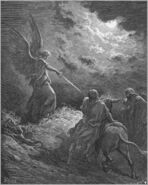 Dore 04 Num22 An Angel Appears to Balaam