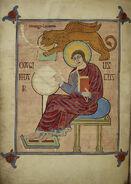 St. Mark - Lindisfarne Gospels (710-721 AD)
