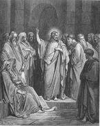 Dore 40 Matt13 Christ In The Synagogue