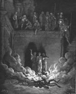 Dore 27 Dan03 Shadrach Meshach and Abednego in the Furnace