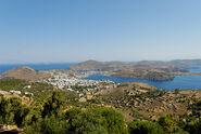 Bp Patmos island north from Monastery of St John