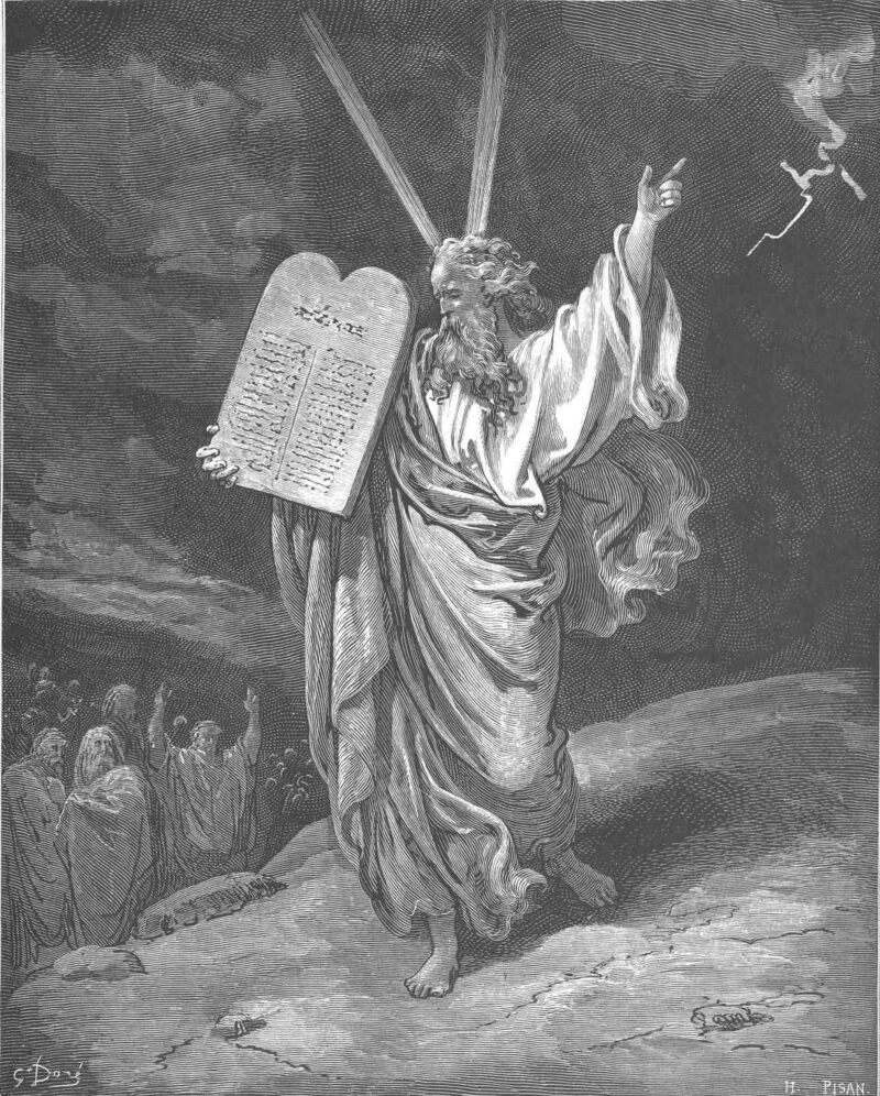 Dore 02 Exod32 Moses Comes Down from Mount Sinai.jpg